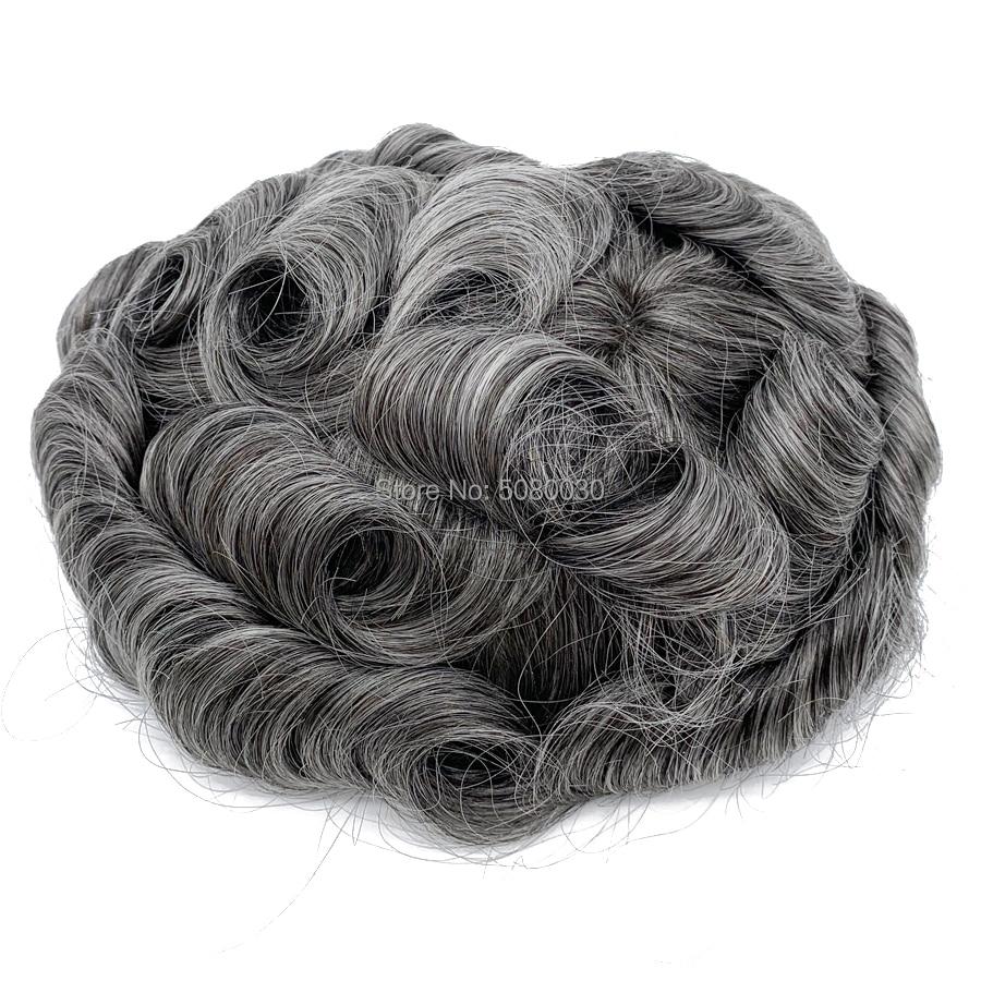 Men Hair Toupee Wigs Men Good Quality Lace Toupee Men Hair Piece Stock