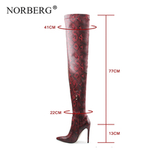Fashion womenThigh High Over the Knee Boots Snakeskin Pointed Toe Super Thin High Heels Long Boots Bottine winter Woman Shoes полусапоги la bottine souriante la bottine souriante la062awxnm59