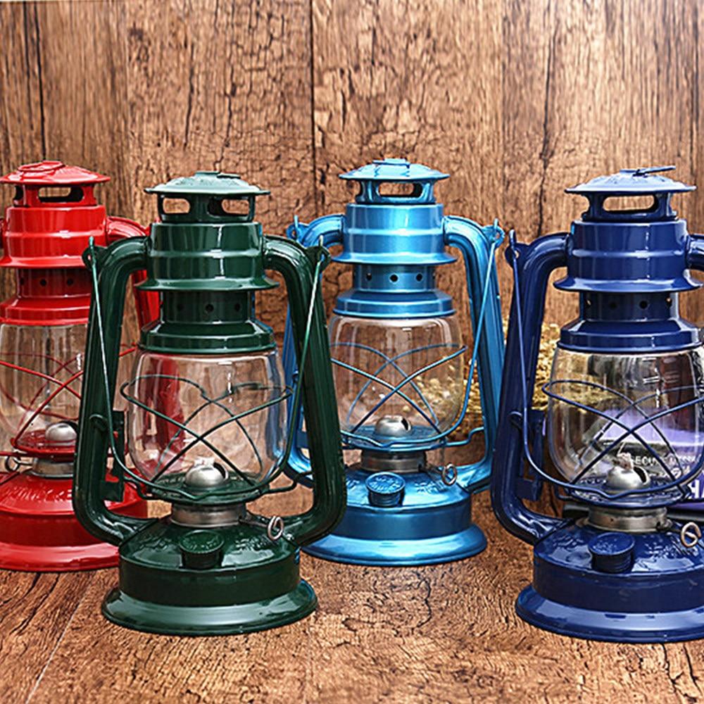 Outdoor Oil Lantern Kerosene Mediterranean Hurricane Light Camping Lamp Practial