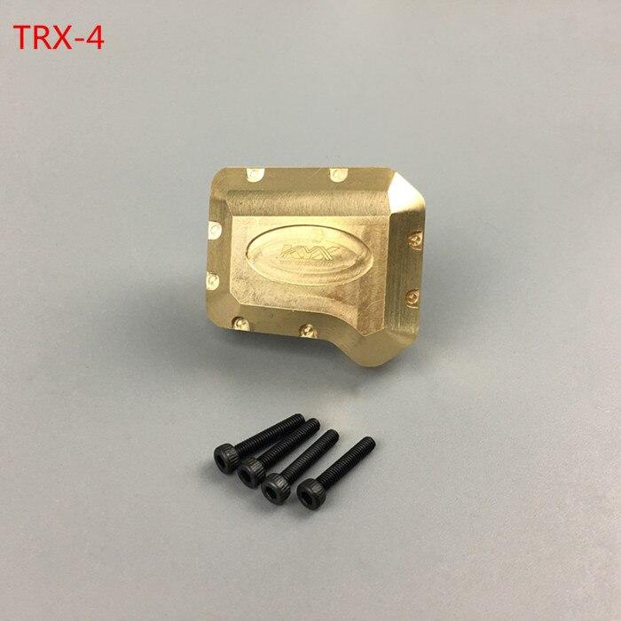KYX Racing CNC en laiton usiné Diff couverture pour 1/10 RC chenille voiture TRaxxas TRX-4 TRX4