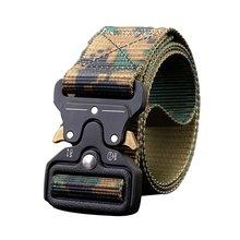 цена на Men'S Multi-Function Military Training Outdoor Belt Cobra Buckle Nylon Tactical Fat Waist belt