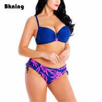 8XL Women Swimsuit High Waist Bathing Suit Plus Size Bikini 6XL Two Piece for Push Up Tie Fat Big Breast 2020 Large 4XL 5XL 7XL