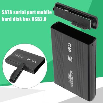3.5 inch Hard Disk Drive Case SATA to USB2.0 HDD Case Adapter 480Mbps External HDD Enclosure with EU Adapter For Windows Mac OS