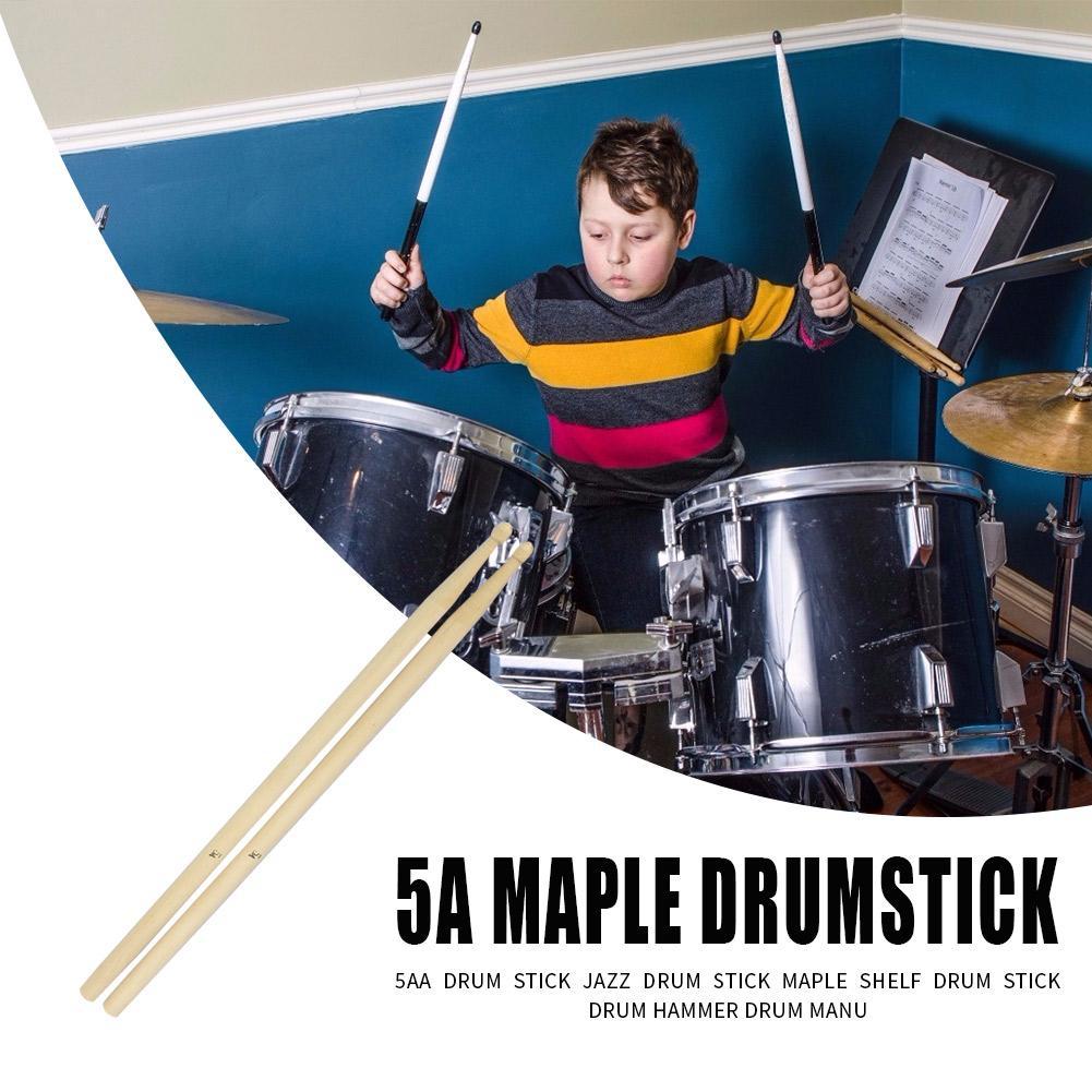2pcs Maple Wooden Drum Sticks 5A Drumsticks Percussion Instruments Parts