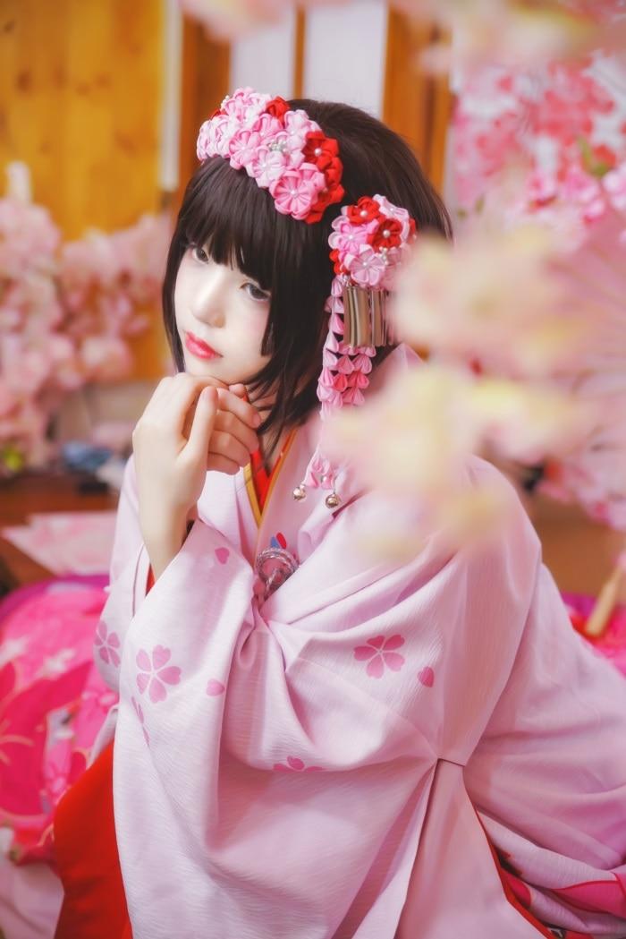 微博红人萝莉风COS 桜桃喵 – 加藤惠系列之和服 [23P/368MB]插图