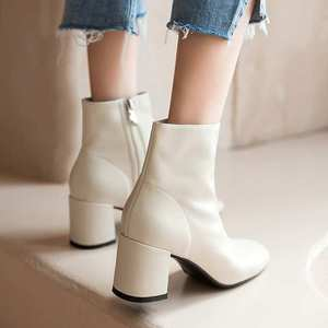 Image 2 - Krazing Pot classic basic solid genuine leather fashion simple boots round toe high heels winter keep warm women ankle boots L05