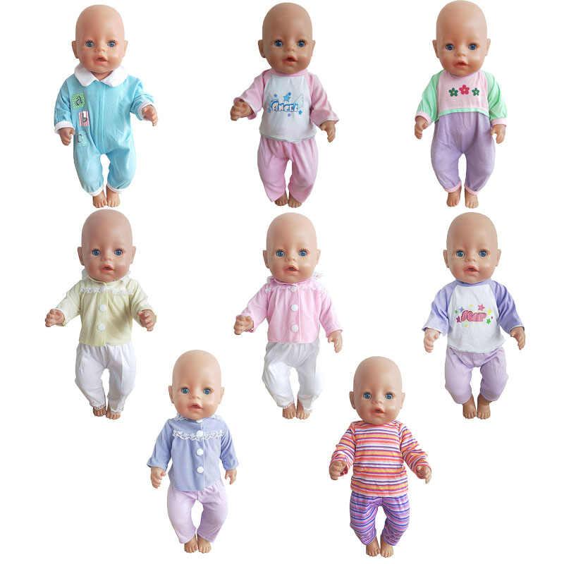 Nuevos monos aptos para Baby Doll de 43cm 17 pulgadas Born Doll ropa