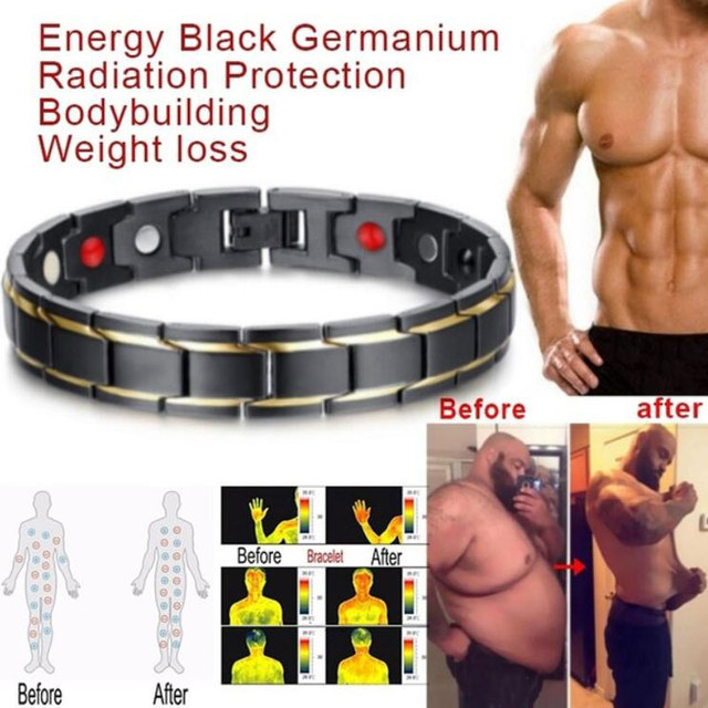 Magnetic Healthcare Weight Loss Bracelet Energy Black Germanium Bracelet Slimming Therapy Acupoints Adelgazar Anti Cellulite 1