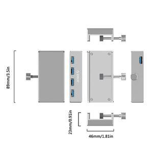 Image 5 - ORICO USB Hub Aluminium Externe 4Ports USB 3,0 Usb Splitter mit 10 30mm Einstellbar Clip für Macbook air Laptop PC Computer Hubs
