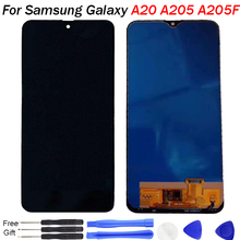 For Samsung A20 2019 LCD Display A205 Screen Touch Digitizer Assembly TFT LCD replacement A205/DS A205F A205FD A205A Display LCD ^ a 30 pin lcd display 7 supra m726g m727g m728g tablet inner tft lcd screen panel lens module glass replacement