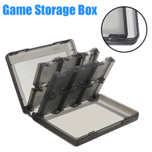 цена на Mayitr 1pc 28 in 1 Game Card Case Holder Durable Hard Plastic Cartridge Storage Box For DS 3DS Black