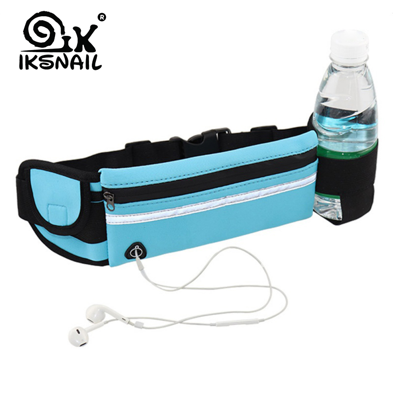 IKSNAIL Outdoor Sports Pockets Anti-theft Mobile Phone Running Belt Waterproof Men And Women Tactical Invisible Running Bags