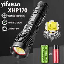 XHP170 XHP160 9Core LED Flashlight Usb Rechargeable Tactical Flashlight Zoom Torch XHP50 T6 Flashlight Lantern by 26650/18650