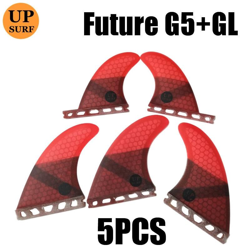 IPOTCH 6 pi/èces Future Tri Fins Box pour Surf Screw