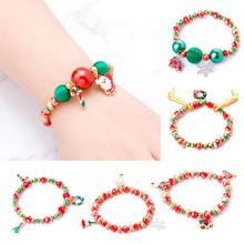 Huiran 2019 Christmas Santa Claus Bracelet Merry Decor for Home Noel 2020 Happy New Year Ornaments Xmas