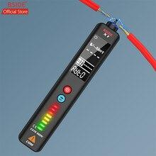 BSIDE-probador de voltaje X1 EBTN, Detector de voltios LCD grande de 3 líneas, rango Dual sin contacto, Sensor de tensión de CA, pluma de control de cable en vivo + funda