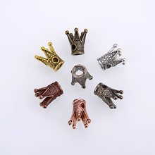 10PCS/ packsge Wholesale Gold/Silver/Antique Bronze Color Crown Bead Caps Connectors Charms End Beads Cap For DIY Jewelry Making Findings цена 2017