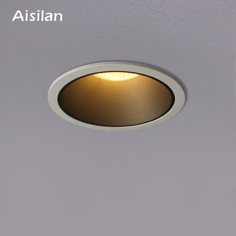 Aisilan светодиодный светильник, фоновый Точечный светильник, высококачественный алюминиевый потолочный Точечный светильник CREE Chip CRI 93