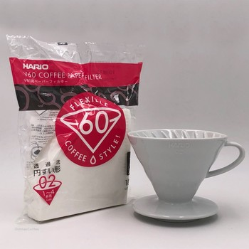 Japan Imports Hario V60 Coffee Filter 01 02 Count Coffee Natural Paper Filters For 4 Cups For Barista VCF-01-100 Dripping Paper 2