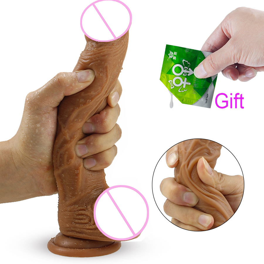 HWOK Skin Realistic Penis Super Huge Big Dildo Silicone Flexible With Suction Cup Artificial Penis Female Masturbator Sex Toys