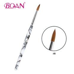 BQAN #8 1Pc acrylique Nail Art brosse offre spéciale fabricant Direct Kolinsky Sable cheveux ongles Art brosse acrylique ongles beauté brosse