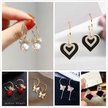 Novo de alta-sentido do vintage moda temperamento metal borboleta gota brincos para mulheres meninas todos os jogo brinco popular jóias lt001