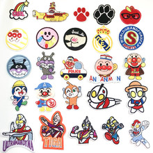 цены Rainbow  Claw Cartoon man Embroidered Iron On Patches Sewing Embroidered Applique for Jacket Clothes Stickers Badge