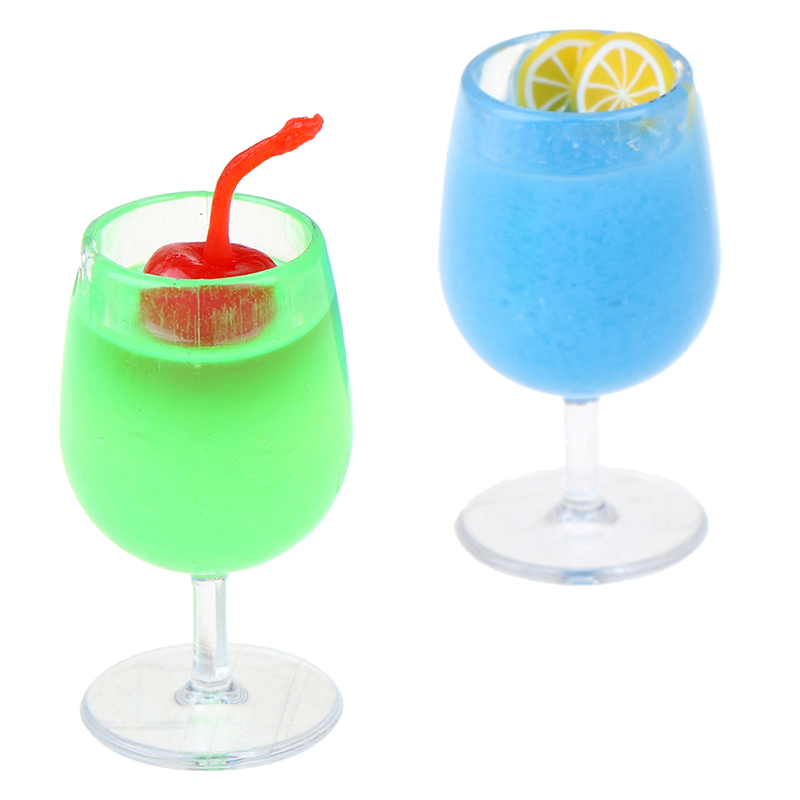 1Pc Resin Cocktail Cup Simulation Drink Glass Model Toy Doll House Decoration Scale 1/12 Dollhouse Miniature Accessories