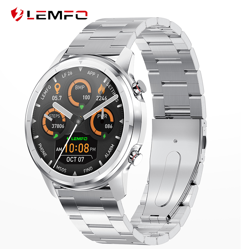 LEMFO LF26 Bluetooth 5 0 Smart Watch 1 3inch 360 360 HD Amoled Screen Waterproof Smart Watch Men Heart Rate Blood Pressure