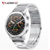LEMFO-Reloj inteligente LF26 para hombre, accesorio de pulsera resistente al agua con Bluetooth 5.0, control de frecuencia cardíaca y presión arterial, pantalla táctil AMOLED HD de 1.3 pulgadas de 360x360