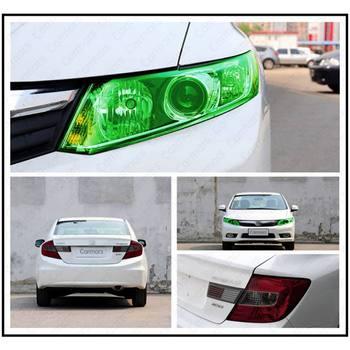 Película de lámina de aluminio para faros de coche, adhesivo envolvente de tono cambiante camaleón transparente, película para lámpara de coche, cubierta de luz para coche, estilismo para coche 2020