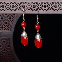 Chinese Vintage Drop Earrings For Women Handmade Dangle Earrings Ethnic Jewelry Ornaments Accessories Best Friend Gift chinese ethnic dangle earrings for women handmade drop earrings vintage jewelry bead accessories wedding party gift