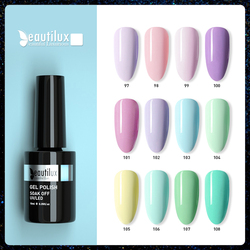 Beautilux Nail Gel Polish Spring Macaron Ice Cream Flower Color Collection Nails Art Design Gels Varnish UV Nail Lacquer 10ml
