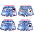 Джинсовые шорты для девочек, летние модные милые шорты с цветочным кружевом, детские штаны, джинсовые шорты для девочек-подростков