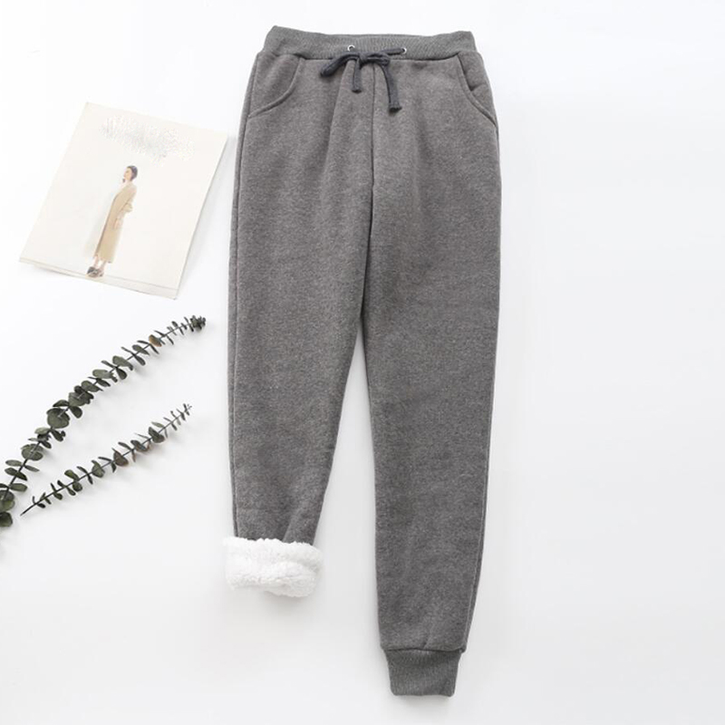 2019 Casual Trousers Women Pants 2019 Large Size Winter Women Pants High Waist Warm Plus Thick Winter Cashmere Harem Warm Pants
