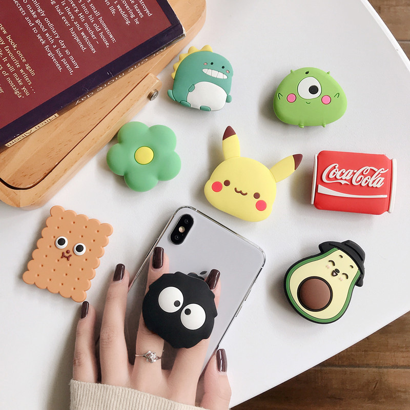 2020 New Universal Cute Anime Cartoon Airbag Mobile Phone Bracket Elastic Bracket Desktop Bracket Suitable For All Smart Phones