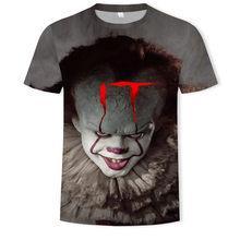 Horror Movie It Penny Wise одежда для клоуна 3D мужская футболка с рисунком/женская уличная футболка в стиле хип-хоп стильная одежда для мальчиков 90s мужской верх