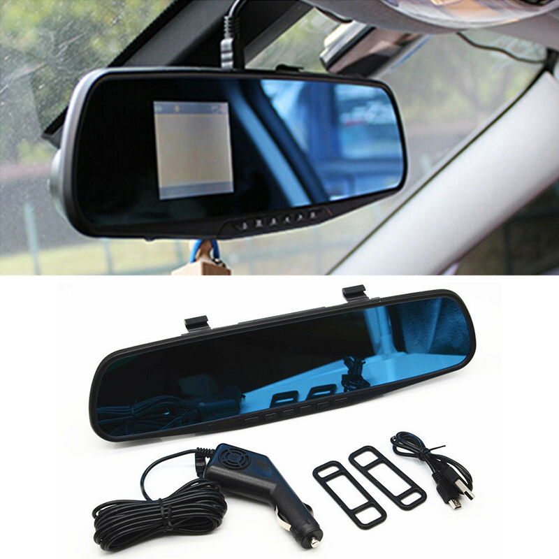 2.4 Inch HD Car DVR Mirror Rear View Mirror Camera IR Night Vision Recorder 12-24V Car Charger Car Rear View Mirror DVR