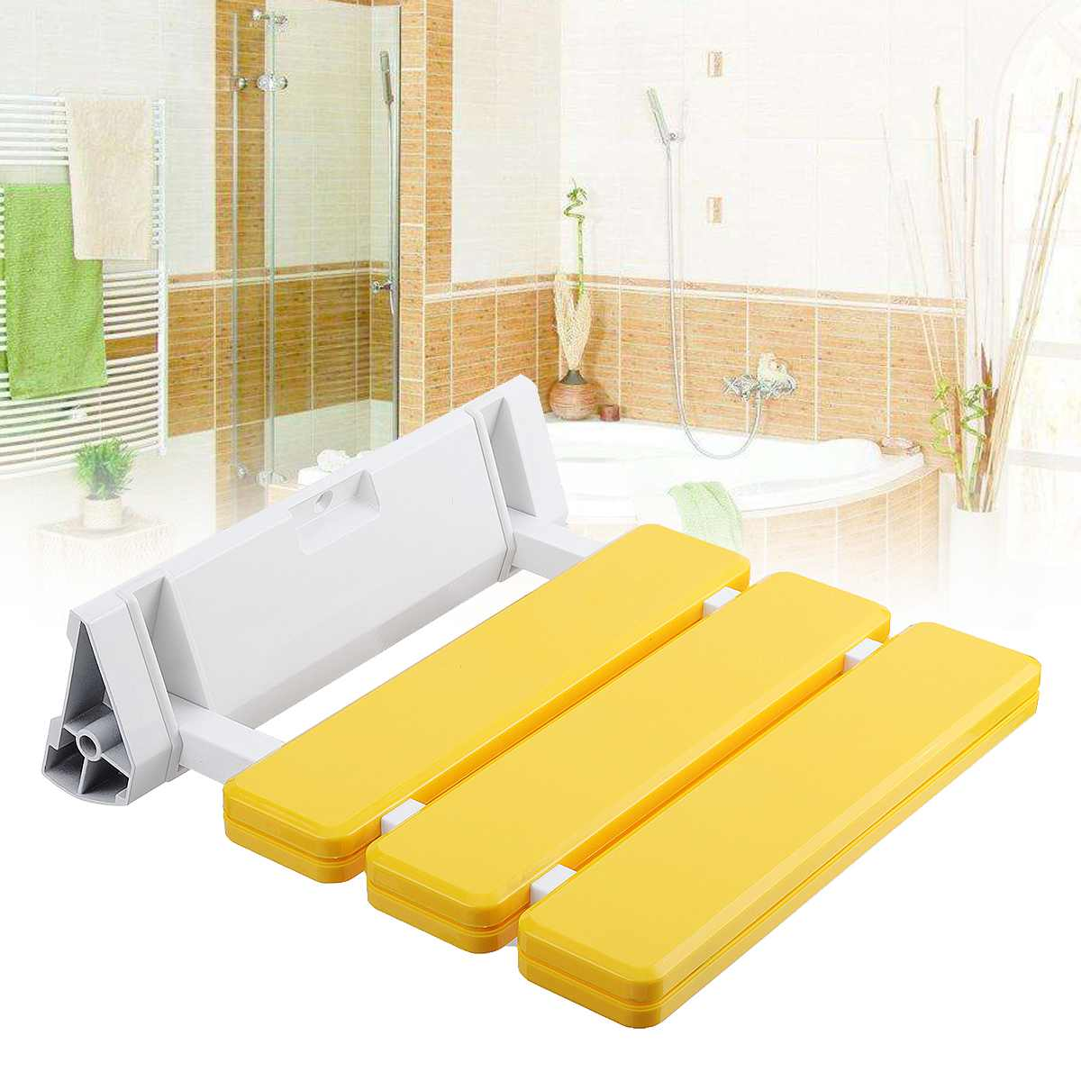 Durable Wall Mounted Shower Seats Plastic Folding Chair Bathroom Stool Taburete Relax Chair Toilet Bench For Shower