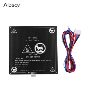 Image 1 - Aibecy Aluminum 12V Hotbed 220*220*3mm Heated Bed with Wire Cable Heatbed Platform Kit for Anet A8 A6 3D Printer Parts