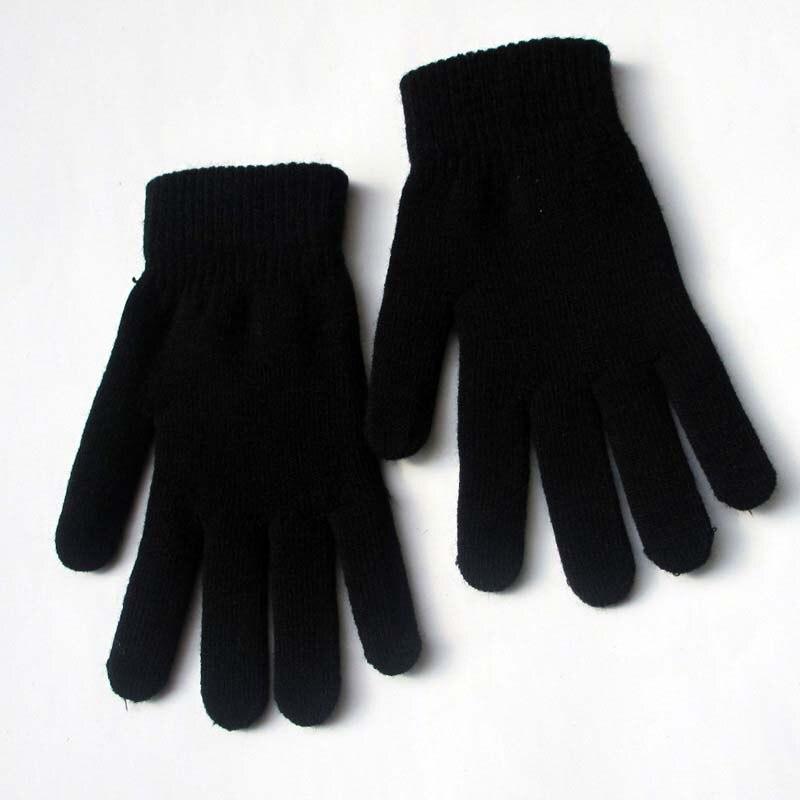 Winter Knit Warm Gloves Men And Women Plus Velvet Thick Wool Non-slip Gloves