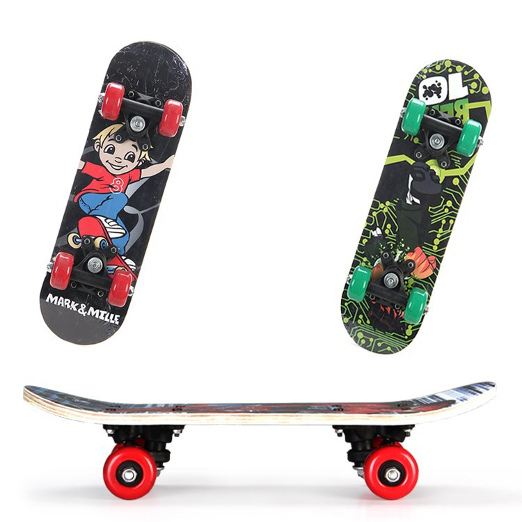 Skateboard Four Wheel Manufacturers A Generation Of Fat Skateboard Creative Cartoon Gift Baby Toy Children Scooter