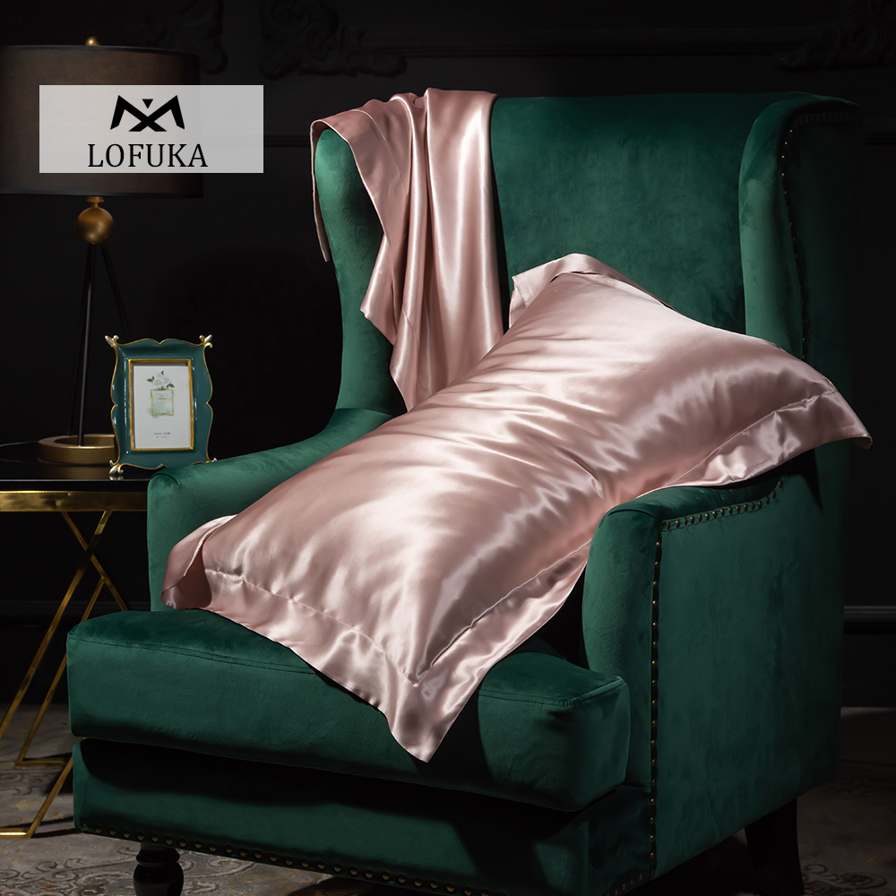 Lofuka Morandi Pure Satin Silk Pillowcase Silky Beauty Healthy Skin And Hair Queen Bed Pillow Cover