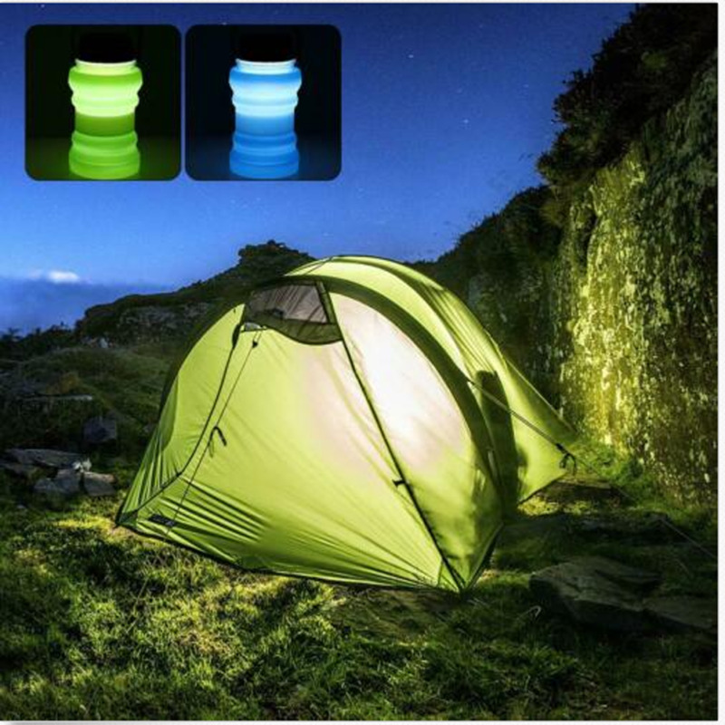 Solar Lamp Solar Charging Multi-function Travel Cup Outdoor Camping Light Send In Random Color