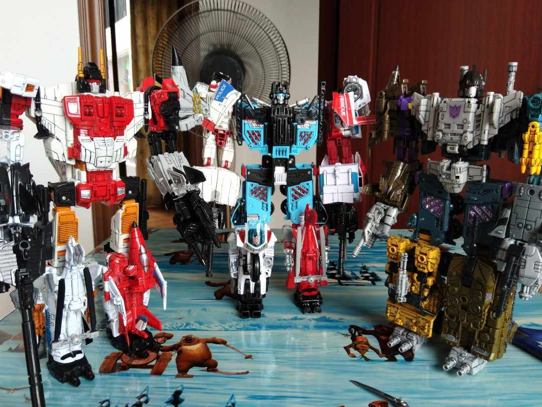 """New In Stock Transformers Defensor HZX 5 In 1 Action Figure IDW KO 13/"""" Kids Toys"""