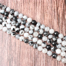 Hot Sale Natural Stone Black Crystal Beads 15.5 Pick Size: 4 6 8 10 mm fit Diy Charms Beads Jewelry Making Accessories