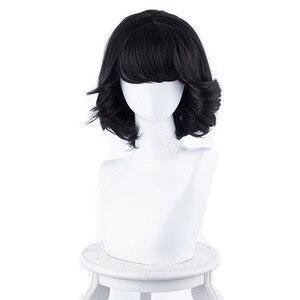 Fogimoya Аниме косплей парик сладкие студенческие волосы девушки школьный стиль парики короткие черные волосы Кудри волосы на плече японские а...