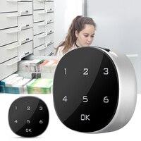 Touch Screen Kast Codeslot Digitale Elektronische Wachtwoord Coded Sloten Met Slot Tong Voor Kabinet Mailbox Bestand Sauna Lade