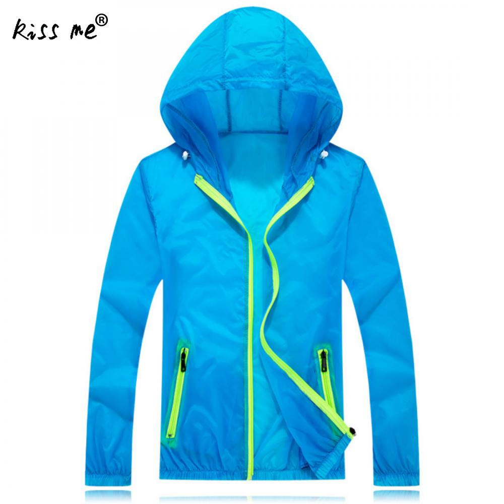Nylon Windproof Climbing Suit Women Trench Coat Sun Protection Outdoor Sport Coat Waterproof Breathable Hooded Hiking Jackets