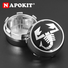 цена на 4PCS 60MM TOP Quality Scorpion Logo Emblem Car Wheel Center Hub Cap for Fiat 500 Punto Bravo Stilo Panda Abarth 500 Wheel Rim